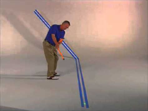 golf swing sticks smart stick golf swing trainer plane demonstration at