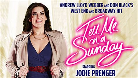 tell me on a sunday wikipedia tell me on a sunday jodie prenger interview