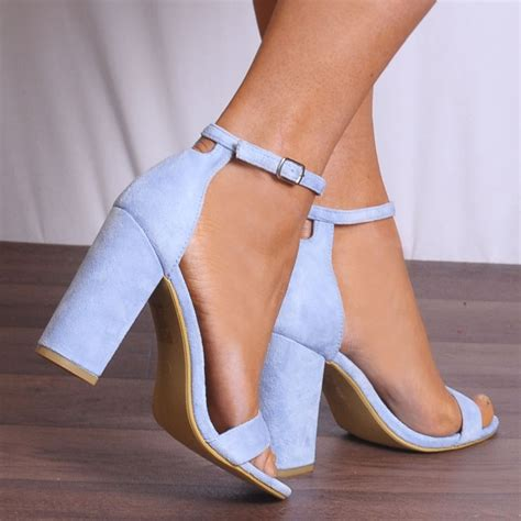 Sandal Baby Blue baby blue db57 barely there strappy sandals peep