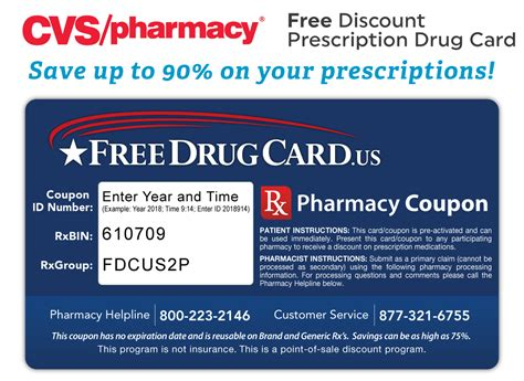 Cvs Gift Card List - cvs pharmacy discount prescription card savings on rx drugs