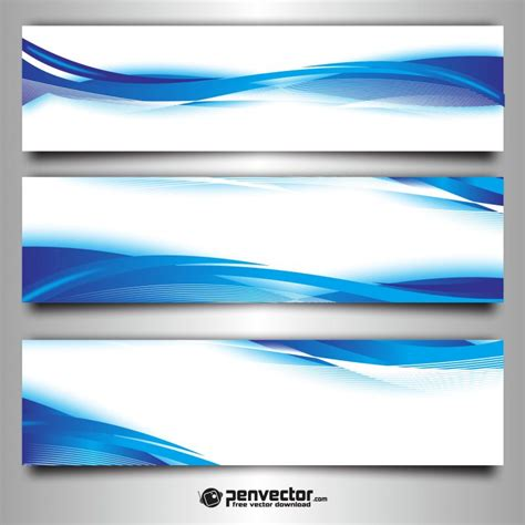 background untuk banner abstract wave blue set banner background free vector