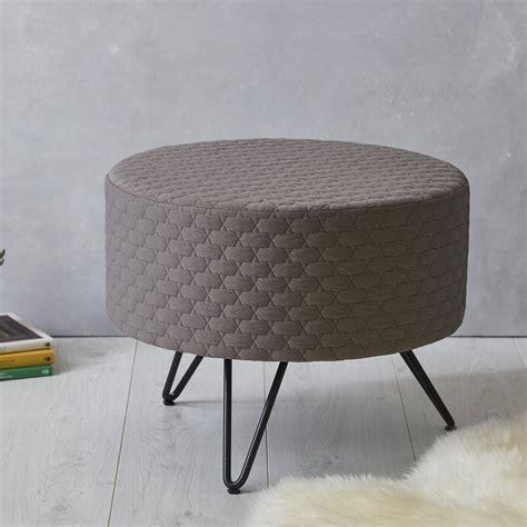 footstool metal legs grey mid century footstool with metal legs by fern