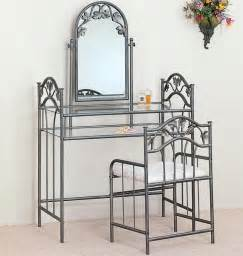 Vanity Set With Chair Vanities Casual Metal Vanity Bedroom Vanities