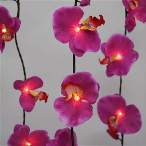 orchid string lights tropical purple orchid string lights