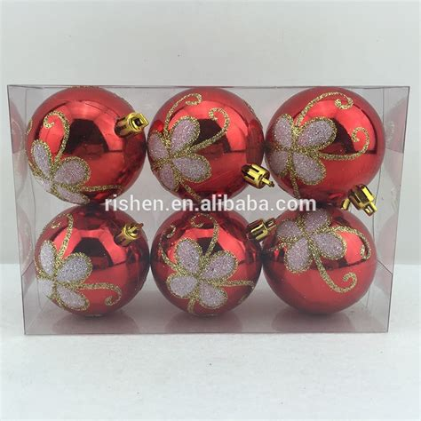 factory sale led xmas ball ornaments bulk cheap plastic