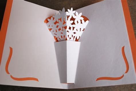 flower vase pop up card