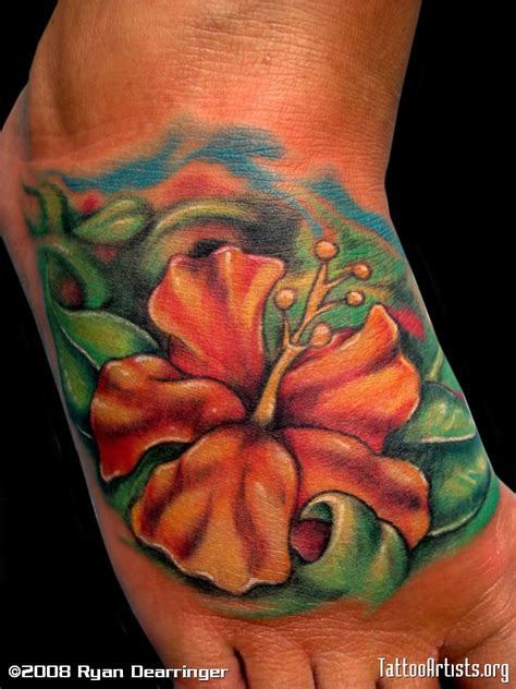 hibiscus flower tattoo hibiscus tattoos3d tattoos