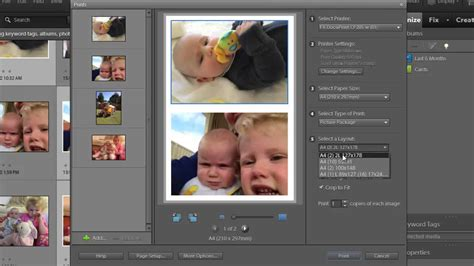 photoshop layout multiple images print multiple photos on one sheet in photoshop elements