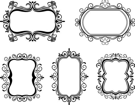 pattern frame template european border pattern vector free vector 4vector