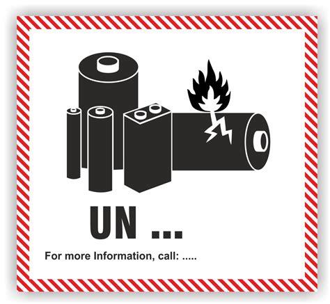 Aufkleber Gefahrgut Lithium Batterien Kostenlos by Aufkleber Lithium Zelle Adr Sondervorschrift 188 Mit Eindruck