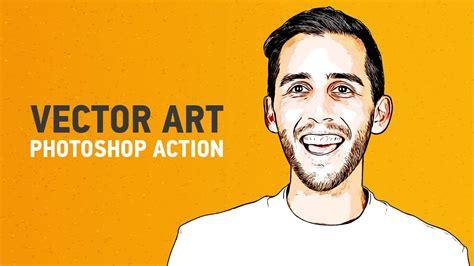 illustrator vector art photoshop action video tutorial
