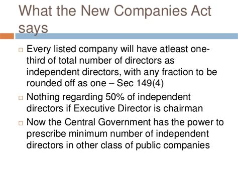 corporations act section 50 companies act 2013 directors independent directors and