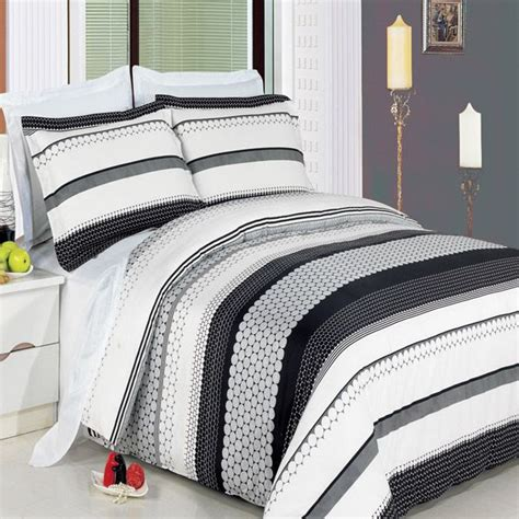 And White Striped Duvet Cover Meadow Black And White Striped 3 Duvet Cover Set