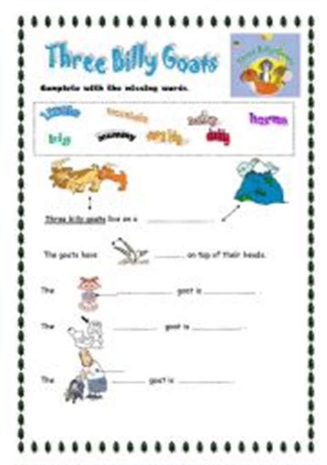 3 Billy Goats Gruff Sequencing Worksheet by Teaching Worksheets Three Billy Goats