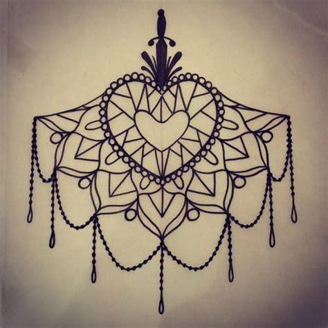 mandala tattoo under chest chest tattoos lace sketches поиск в google рисунки