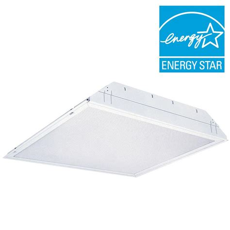 Ceiling Troffer by Lithonia Lighting 2 Light White Fluorescent Ceiling