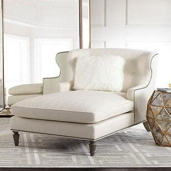 wingback chaise modern white dual chaise products bookmarks design
