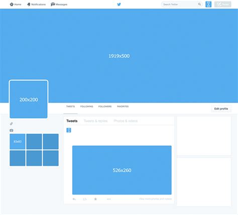 twitter account layout twitter template available for free download studiostock