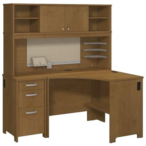 Corner Workstation Desk With Hutch Corner Hutch Desks Walmart