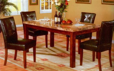 Best Finish For Dining Table Faux Marble Top Oak Finish Base Modern Dining Table W Options