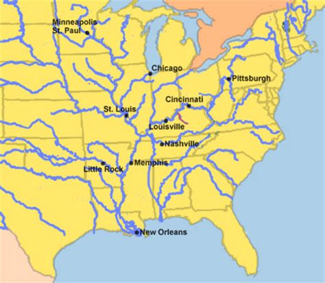 kentucky map with rivers kentucky river steamboats org