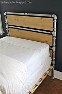 Pottery Barn Metal Bed That S My Letter Diy Pipe Amp Wood Slats Bed