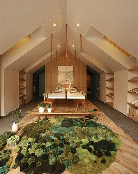 Moss Bath Rug ゴロゴロしてみたい 部屋が草原や森のようになるラグ Rugs Become Tactile Grasslands