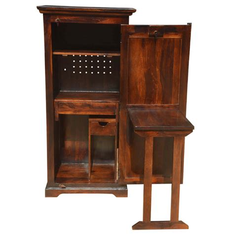 P Desk by Solid Wood Computer Hutch Desk Storage Cabinet