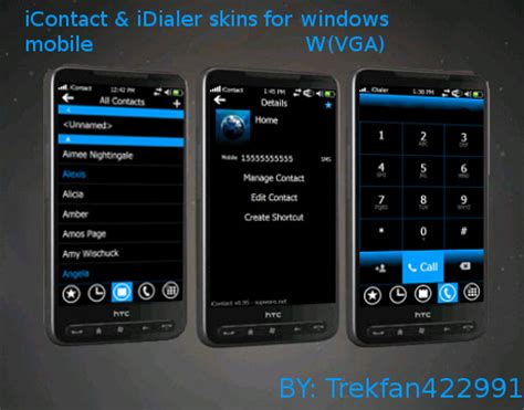 pc themes address icontact and idialer wp7 skins v1 00 freeware for windows