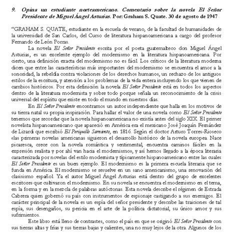 el senor presidente letras quot el se 241 or presidente quot en opini 243 n de contempor 225 neos de miguel 193 ngel asturias rosales p 225 gina 3