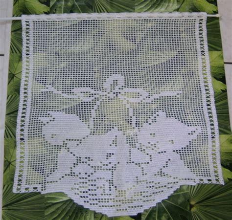 Rideau Crochet Patron by Chats Rideaux Au Crochet Filet Cr 233 Ation Fait