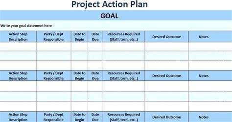 Excel Action Plan Template Project Action Plan Template Discopolis Club Project Management Corrective Plan Template