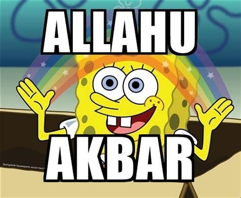 Allahu Akbar Meme - allahu akbar spongebob rainbow meme generator