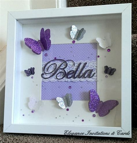 Beautiful Handmade Photo Frames - beautiful handmade 3d butterfly frame can be personalised