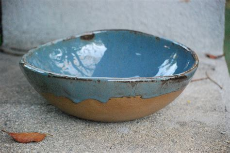 Handmade Ceramic Bowls - ceramic serving bowl handmade pottery blue pottery