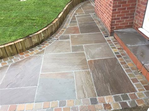 Patio Slab Designs Indian Sand Paving Raj Blend Patio Slabs 22mm Calibrated Ebay