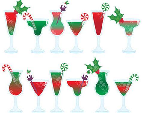 christmas cocktails clipart cocktail clip art etsy