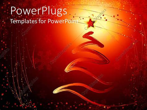 themes line xl powerpoint template christmas theme with line shaped as