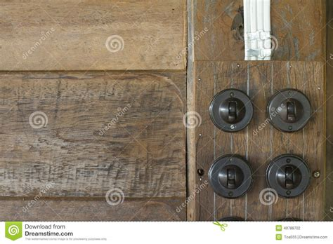 old fashioned light switches old style electricity switch royalty free stock image