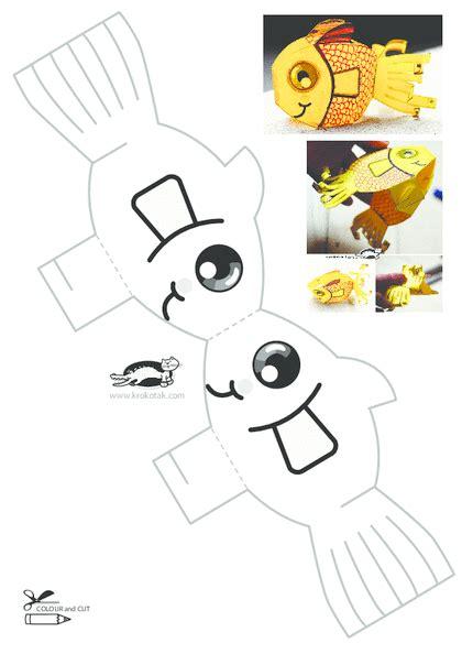 Printable Paper Crafts For - krokotak print printables for prace r苹czne