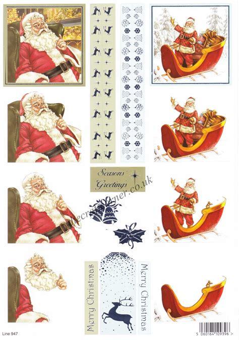 die cut decoupage sheets sleigh with foil accents die cut 3d
