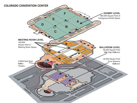 colorado convention center floor plan floor plan of colorado convention center visit denver