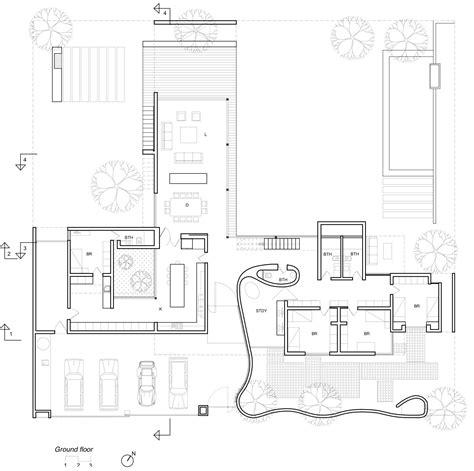 ground floor plan drawing artiagoitia house raimundo anguita archdaily