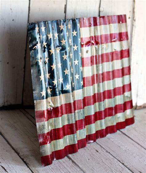 sheet metal usa flag diy crafts usmc on wall designs