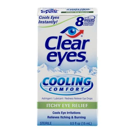 clear eyes cooling comfort eye drops clear eyes cooling comfort itchy eye relief eye drops from