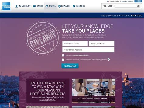 American Express Travel Sweepstakes - fall 2014 american express travel giveaway