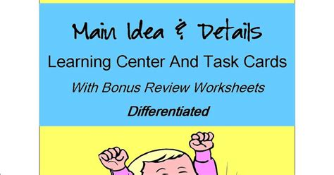 main idea and themes reading plus literacy math ideas differentiated main idea resources