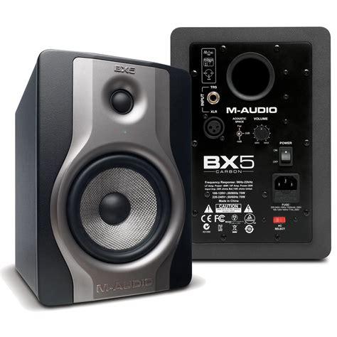 M Audio Bx5 by M Audio Bx5 Carbon 5 In Powered Studio Monitors Pr Pssl
