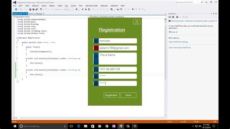 Design Form Visual Studio 2012 | how to create simple registration form design in csharp