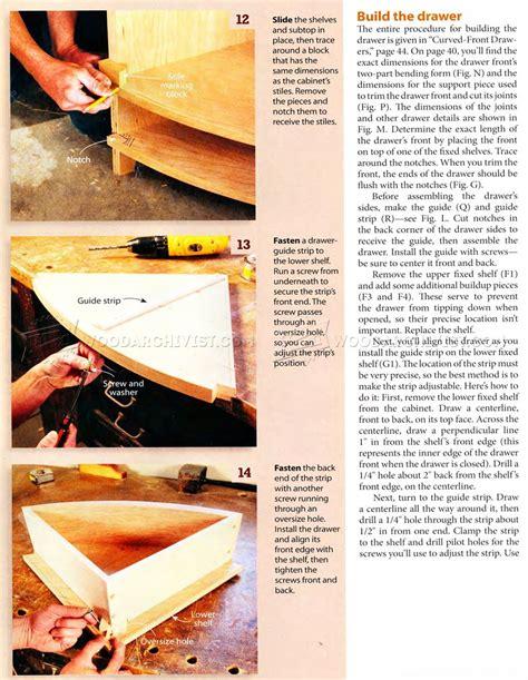 bow front dresser plans bow front corner cabinet plans woodarchivist